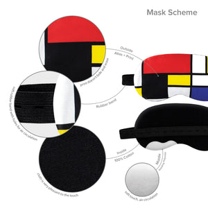 Piet Mondrian Sleep Mask