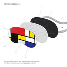 Load image into Gallery viewer, Piet Mondrian Sleep Mask