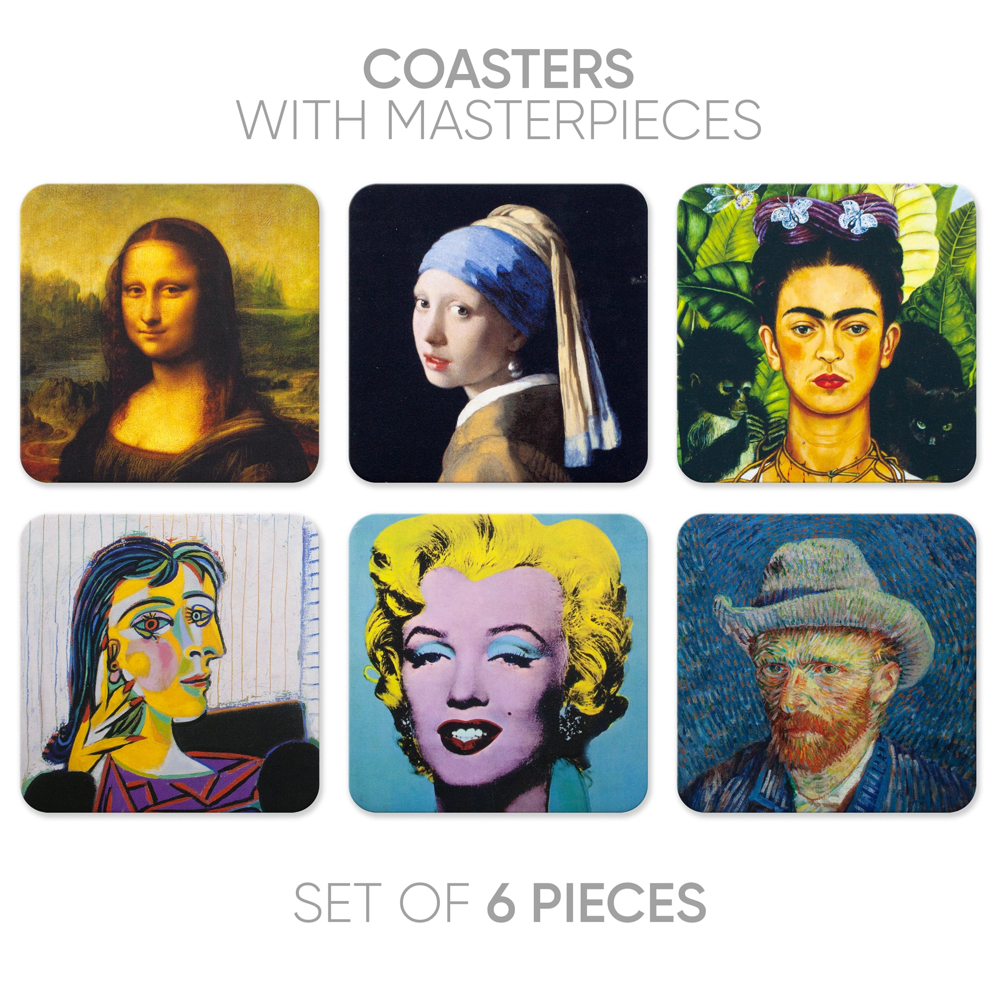 Coasters Portraits (6 in 1)