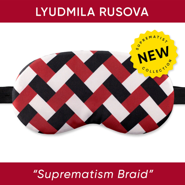 Suprematist Braid Sleep Mask