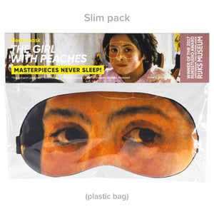 The girl with peaches Sleep  Mask