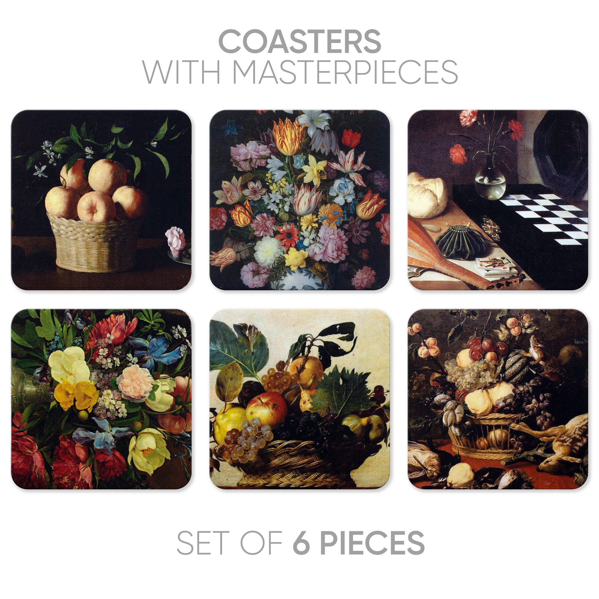 Coasters Still life-2 (6 in 1)