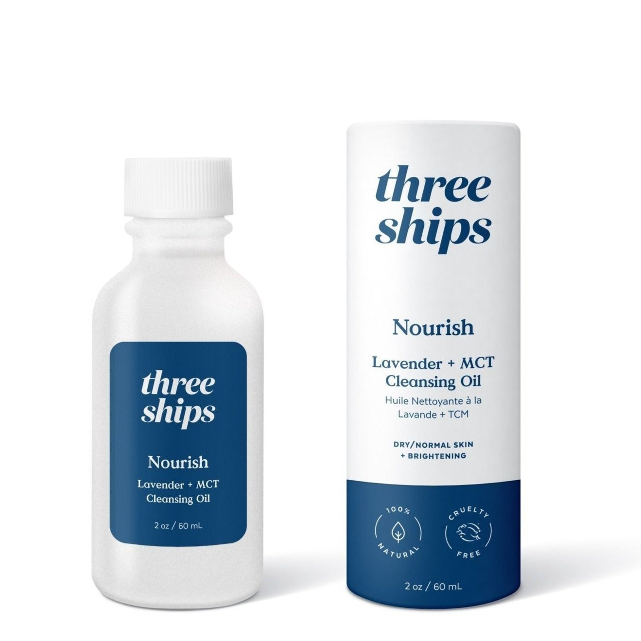 THREE SHIPS - NOURISH LAVENDER + MCT CLEANSING OIL
