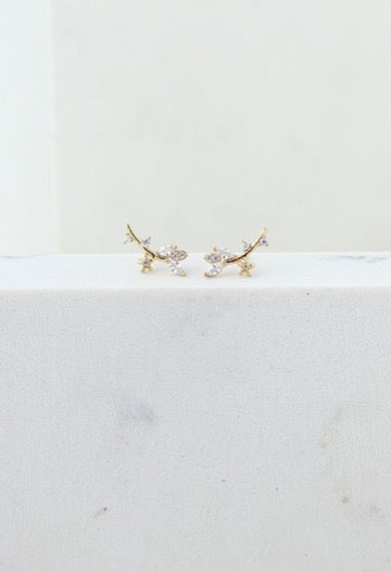 LOVER'S TEMPO - EDEN CLIMBER EARRINGS IN GOLD