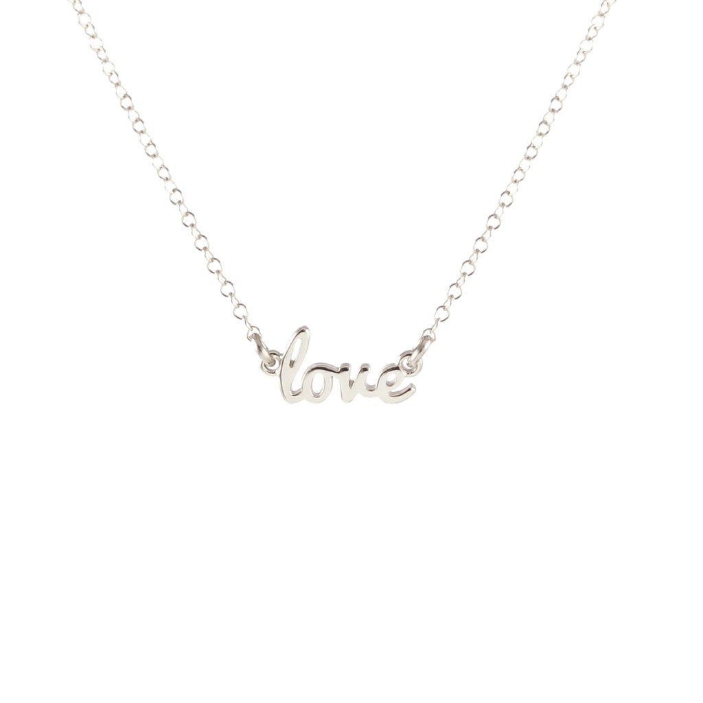 KRIS NATIONS - LOVE CHARM NECKLACE IN SILVER