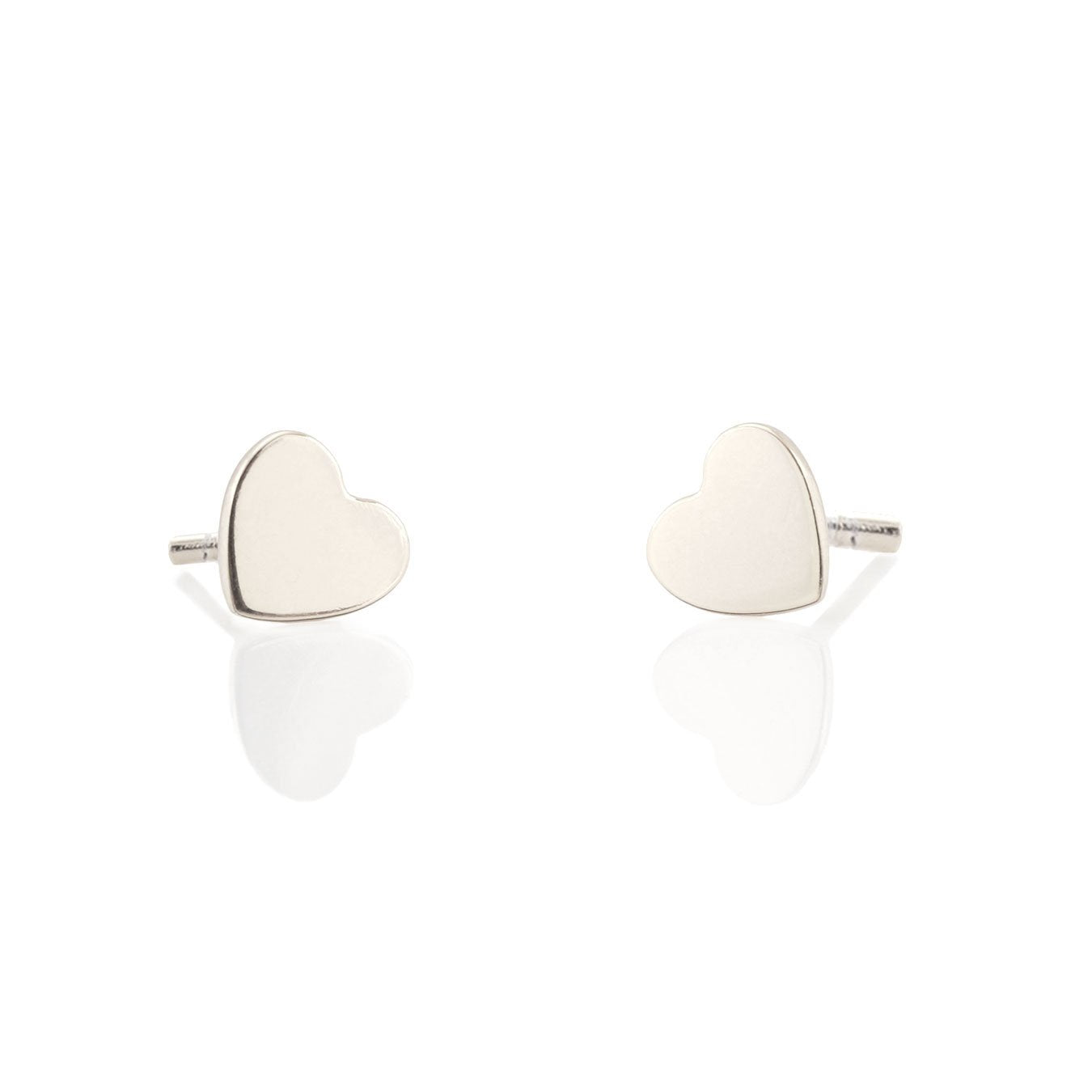 KRIS NATIONS - HEART STUD EARRINGS IN SILVER