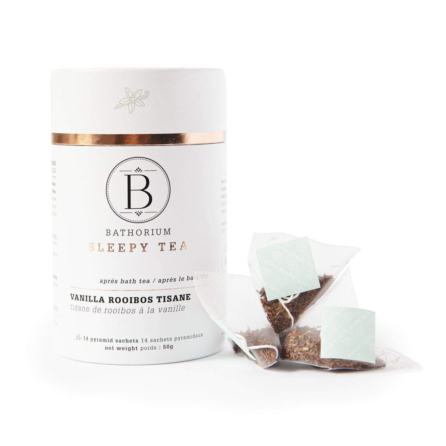 BATHORIUM - APRES BATH - SLEEPY TIME PYRAMID BAGGED TEA - VANILLA ROOIBOS TISANE