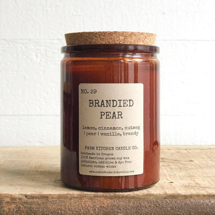 FARM KITCHEN CANDLE CO - BRANDIED PEAR SOY CANDLE 10.5OZ