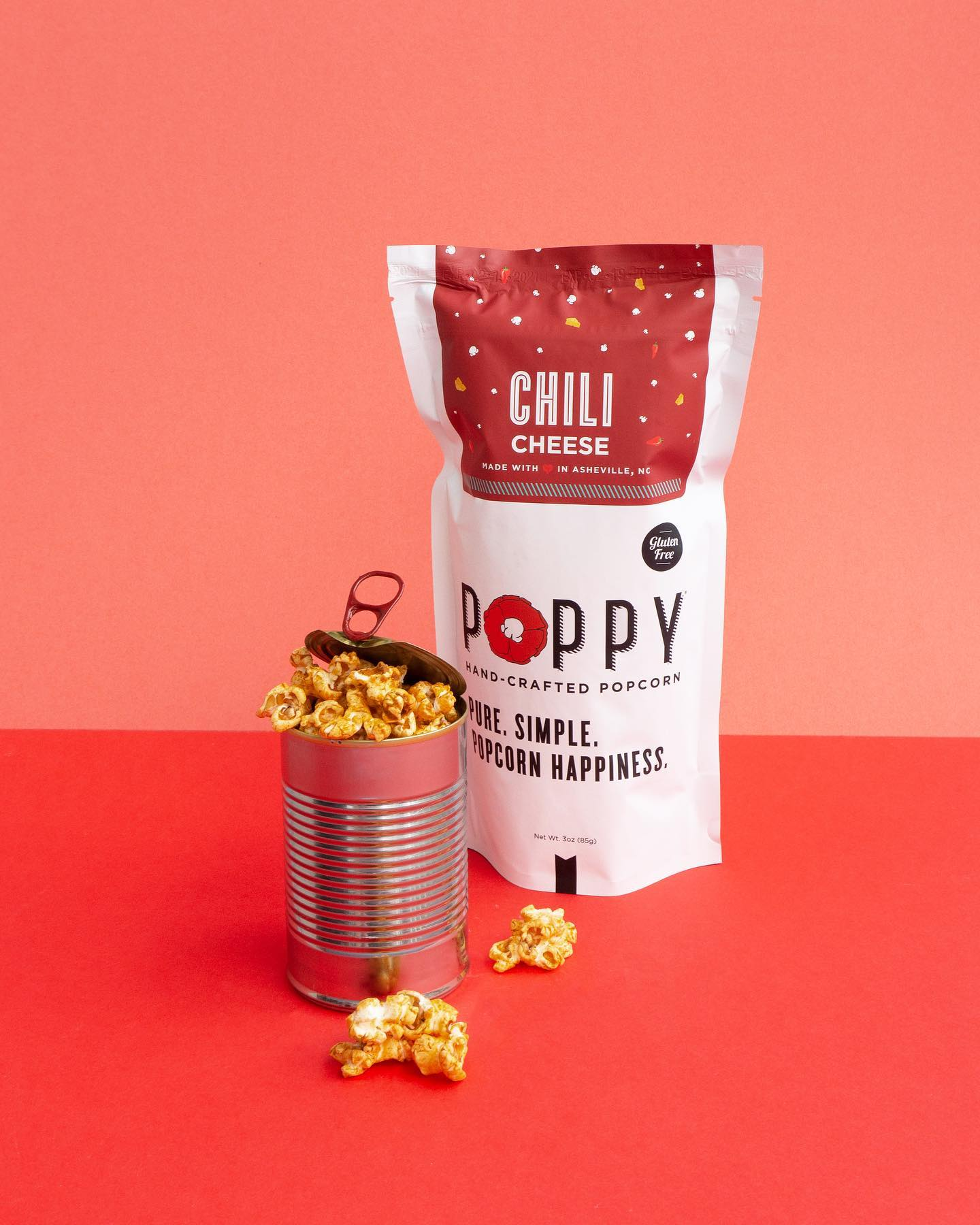 POPPY HAND-CRAFTED POPCORN - CHILI CHEESE MARKET BAG