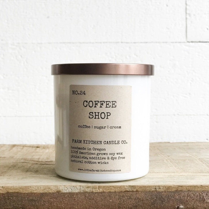 FARM KITCHEN CANDLE CO - COFFEE SHOP SOY CANDLE 8.5OZ