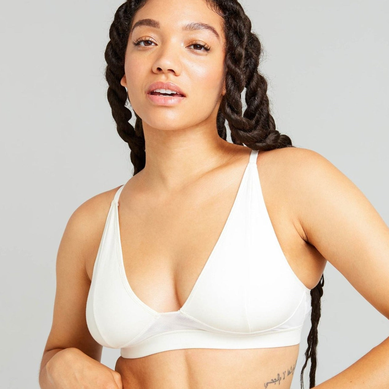 RICHER POORER - WOMEN'S HIGH CUT BRALETTE IN BONE