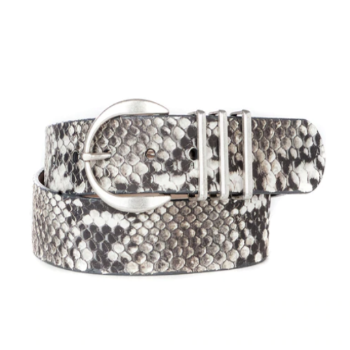 BRAVE LEATHER - KIKU LEATHER BELT IN PYTHON