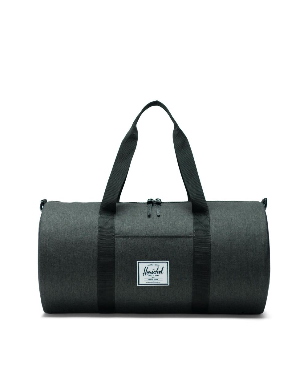 HERSCHEL - SUTTON DUFFLE MID-VOLUME IN BLACK CROSSHATCH/BLACK