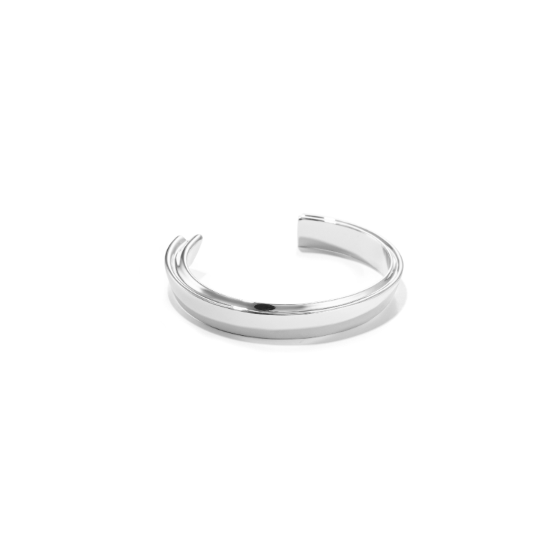 JENNY BIRD - HIDDEN HEART BANGLE IN SILVER