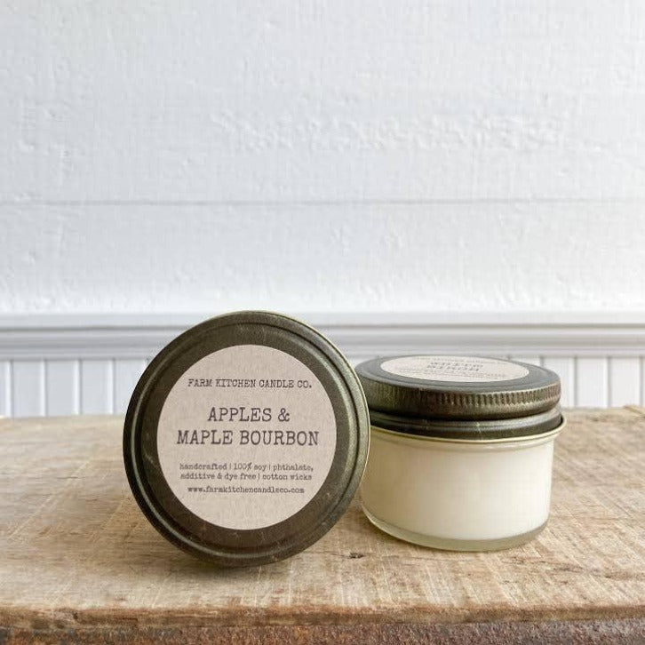 FARM KITCHEN CANDLE CO. - APPLES & MAPLE BOURBON MINI SOY CANDLE