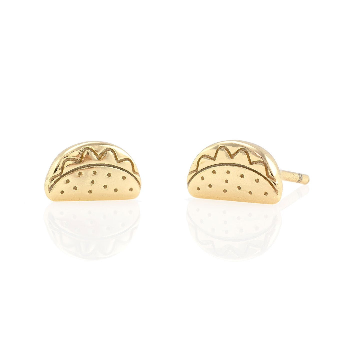 KRIS NATIONS - TACO STUDS IN GOLD