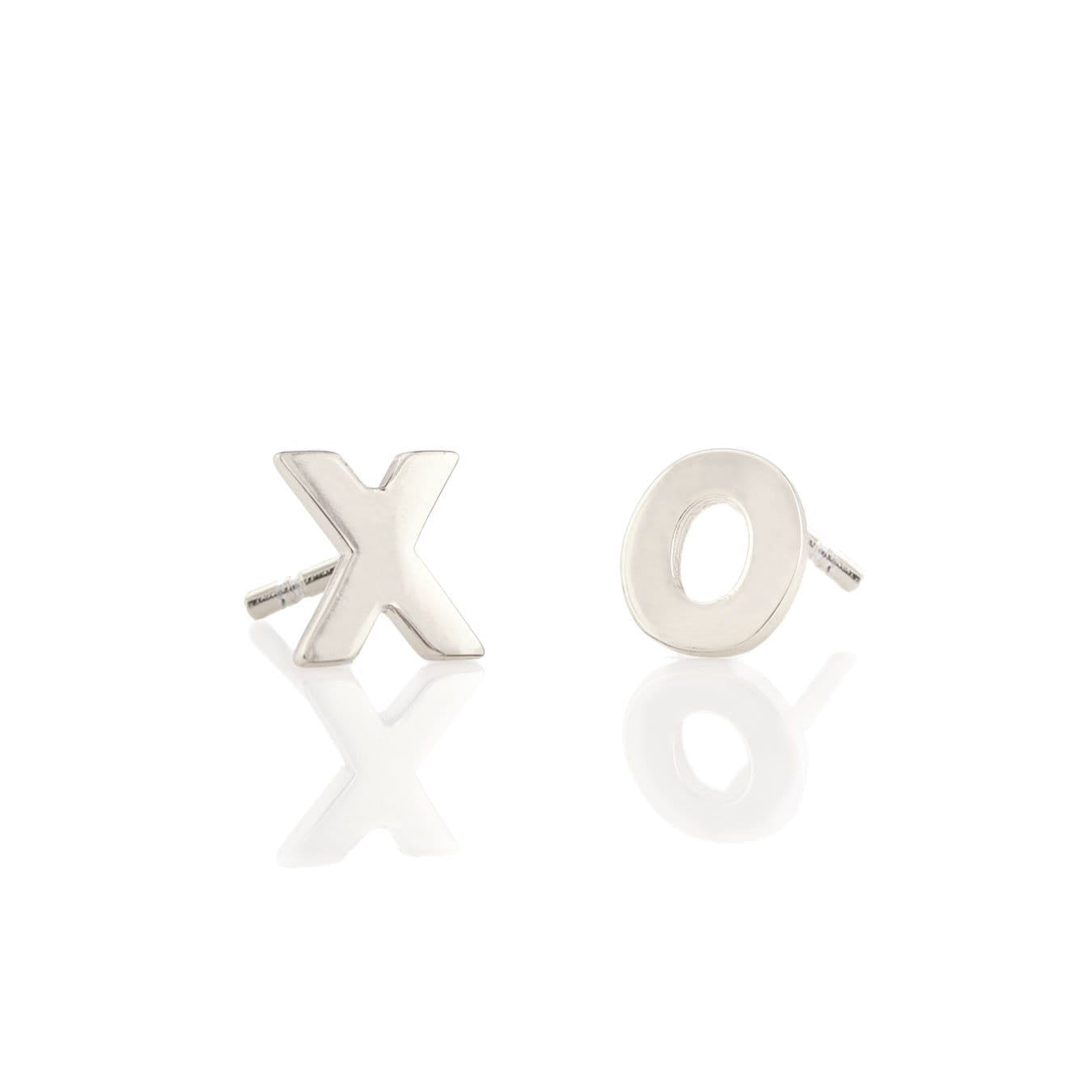 KRIS NATIONS - XO STUDS IN SILVER