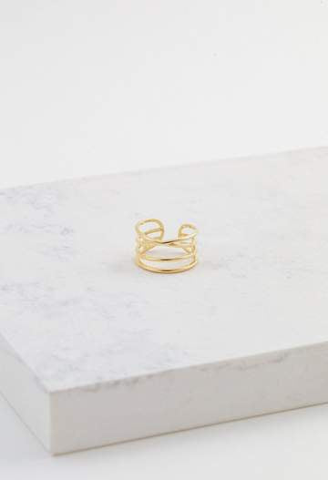 LOVER'S TEMPO - ORBIT RING IN GOLD