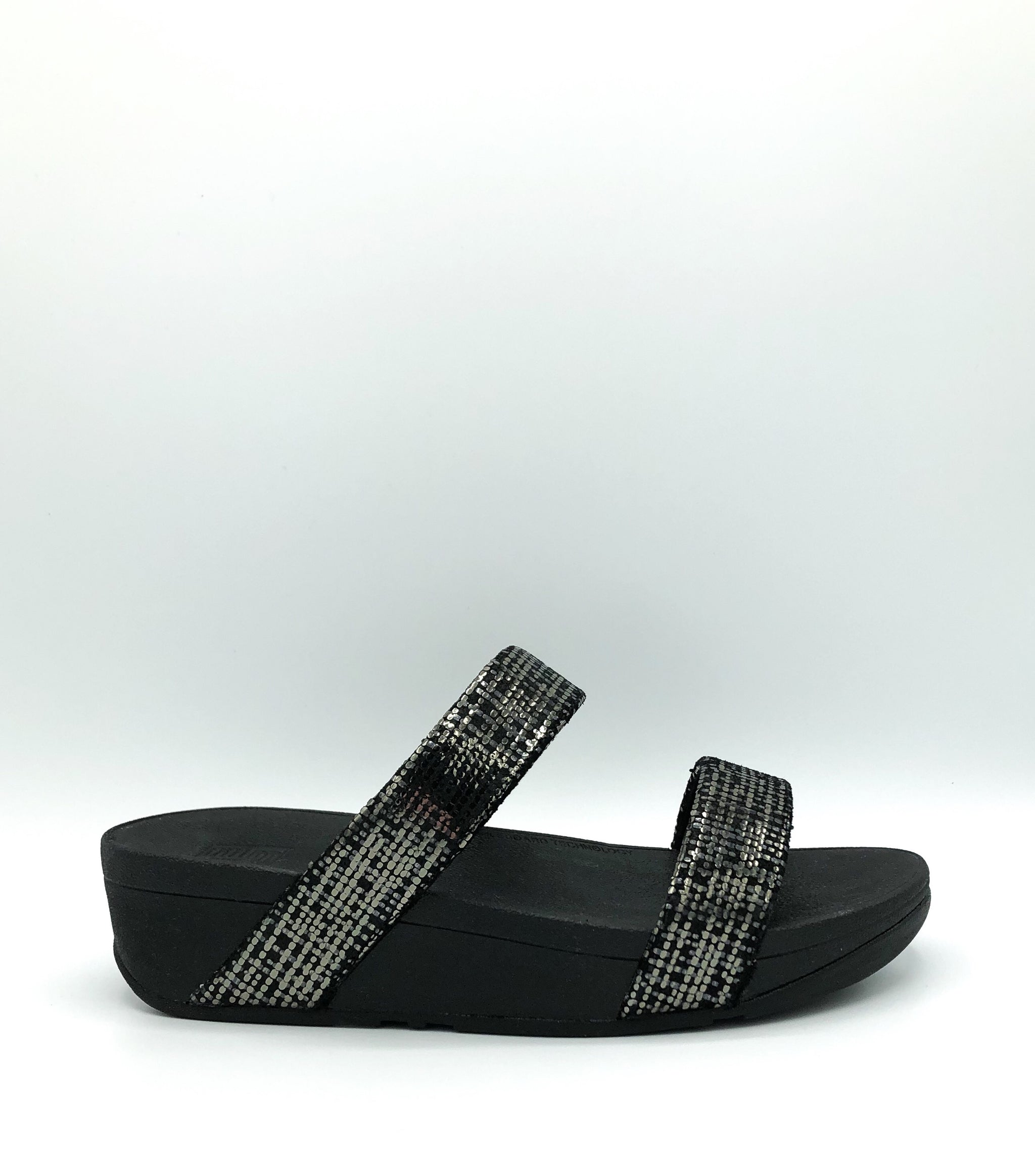 FIT FLOP - LOTTIE CHAIN PRINT SLIDE IN BLACK