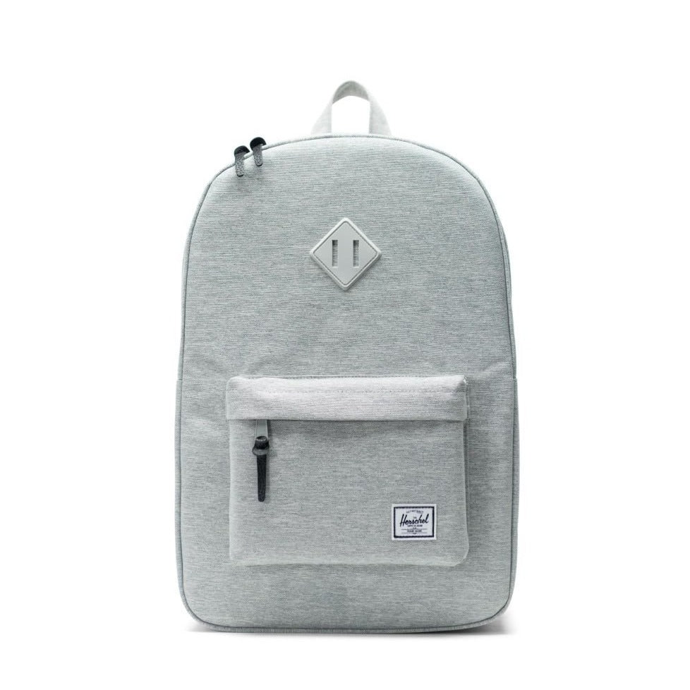HERSCHEL - HERITAGE BACKPACK IN LIGHT GREY CROSSHATCH