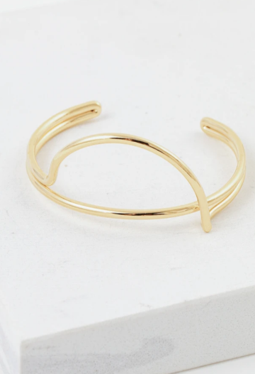 LOVER'S TEMPO - HALF MOON BANGLE IN GOLD