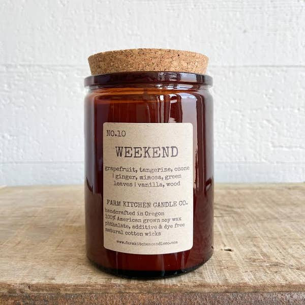 FARM KITCHEN CANDLE CO. - WEEKEND SOY CANDLE - AMBER