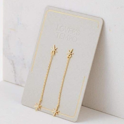 LOVER'S TEMPO - GLIMMER DROP EARRING IN GOLD