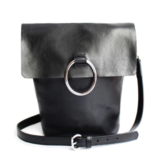BRAVE LEATHER - VIRTUE BAG IN BLACK