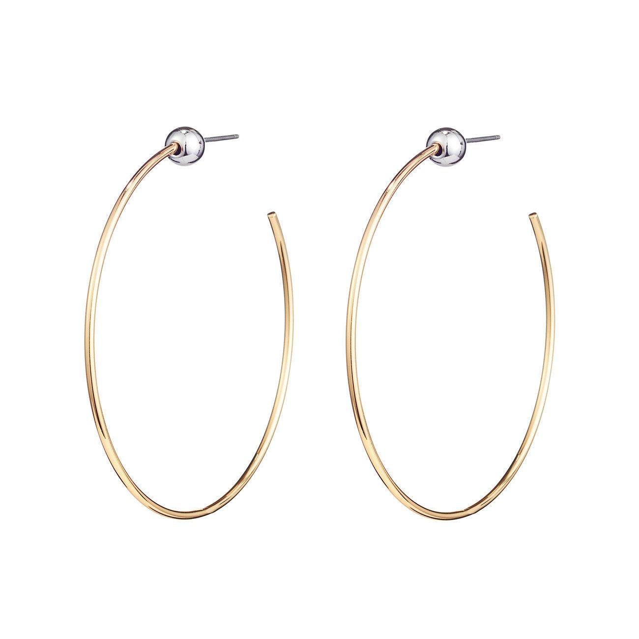 JENNY BIRD - ICON HOOPS S IN GOLD/RHODIUM