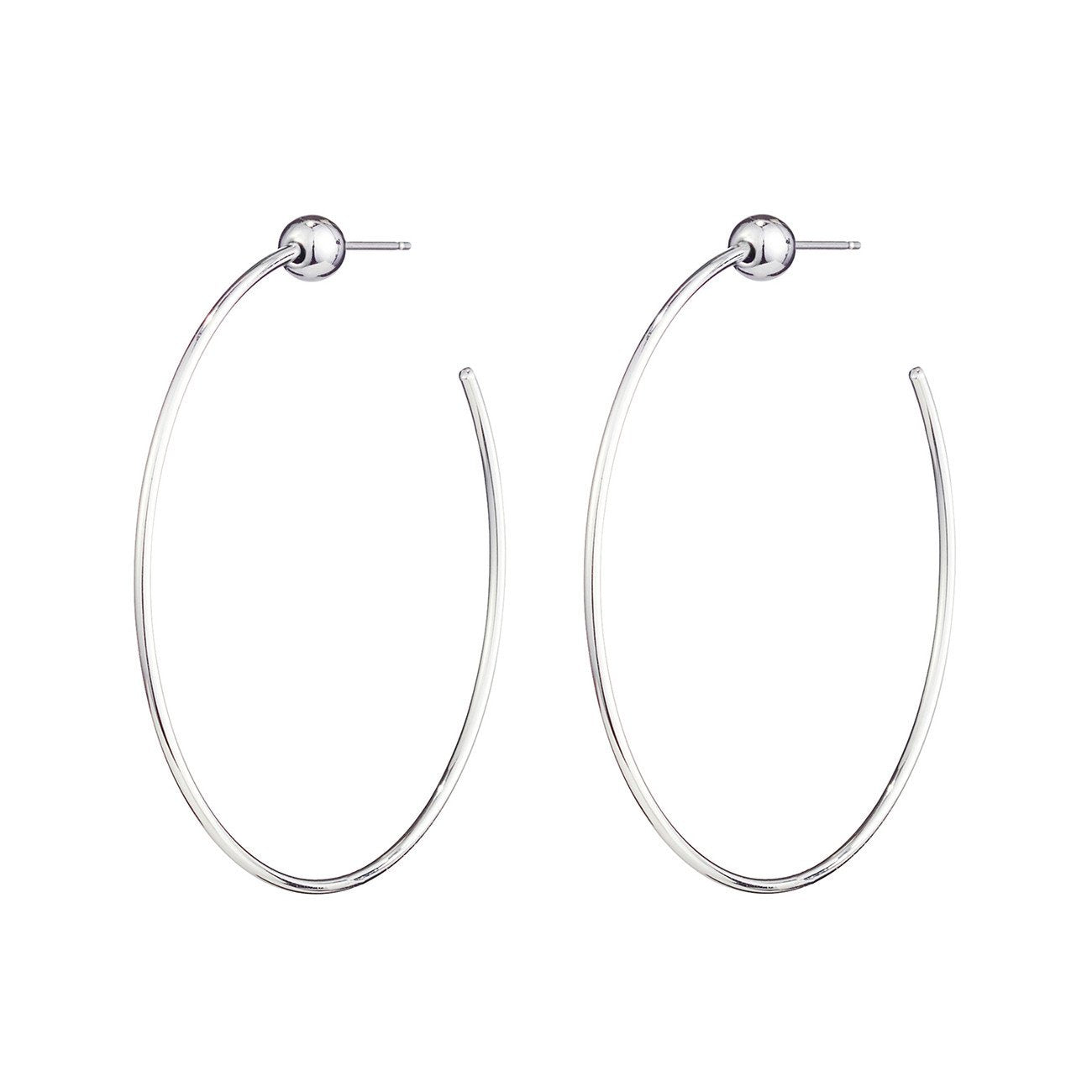 JENNY BIRD - ICON HOOPS S IN RHODIUM/SILVER