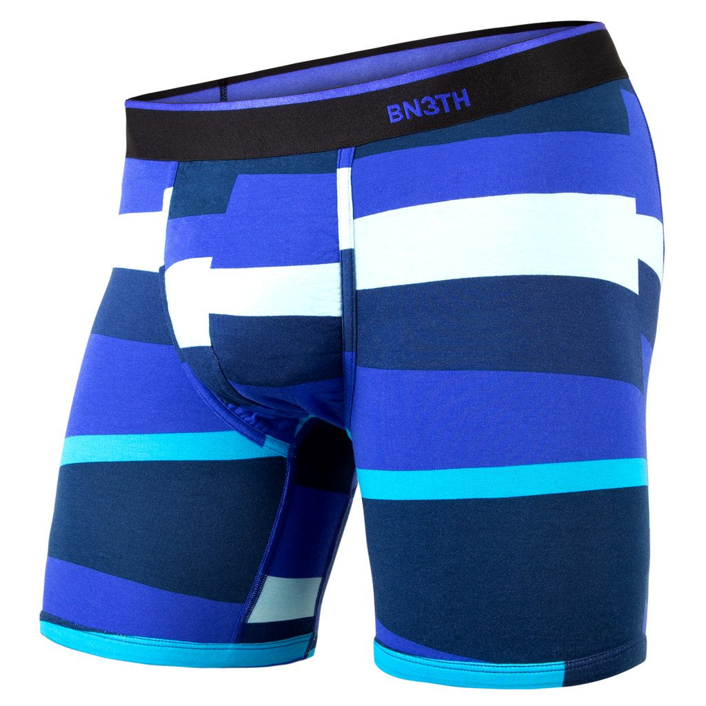 BN3TH - CLASSIC BOXER BRIEF PRINT FUNKY STRIPE BLUE