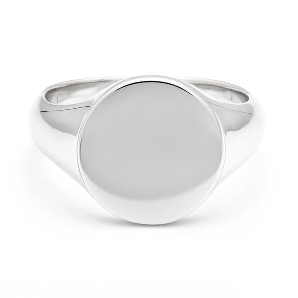 MELANIE AULD - SIGNET RING IN SILVER