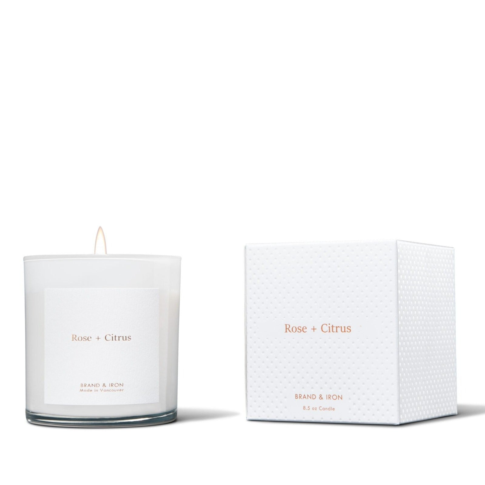 BRAND & IRON - HOME SERIES ROSE & CITRUS CANDLE