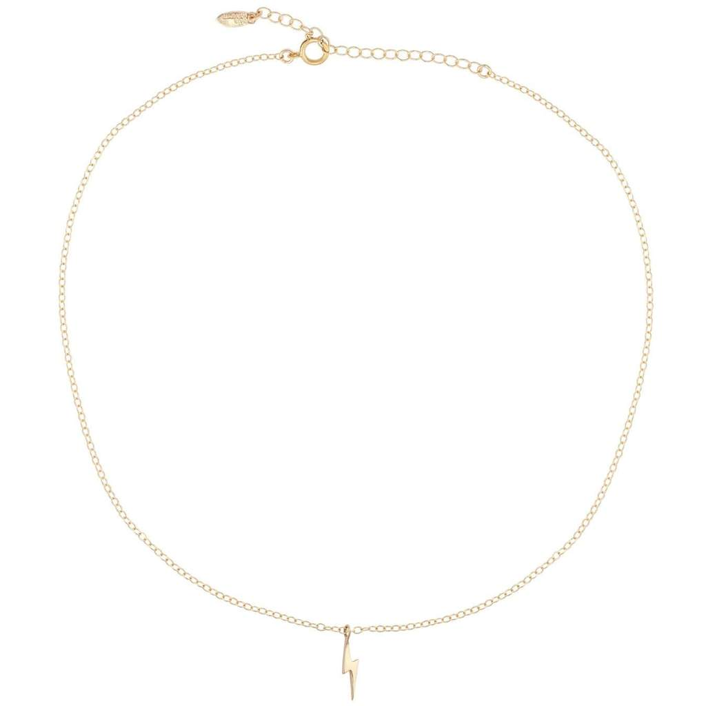 KRIS NATIONS - SOLID LIGHTNING BOLT NECKLACE IN GOLD