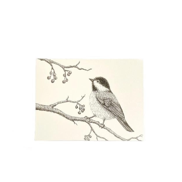 SVC STUDIOS  - CHICKADEE GREETING CARD
