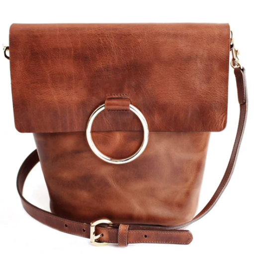 BRAVE LEATHER - VIRTUE BAG IN COGNAC