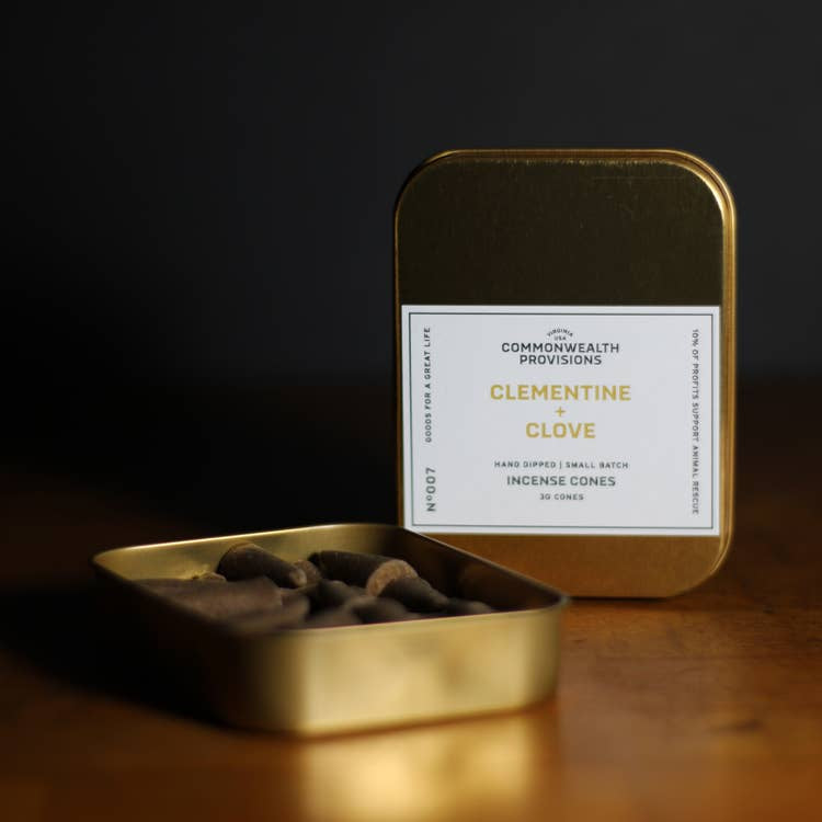 COMMONWEALTH PROVISIONS - INCENSE CONES IN CLEMENTINE & CLOVE