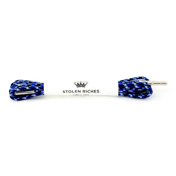 STOLEN RICHES - DRESS LACES (5-6 EYELETS) IN CAMO BLUE