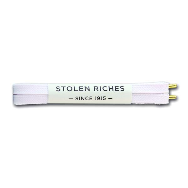 STOLEN RICHES - SNEAKER LACES (6-7 EYELETS) IN WOODLAND WHITE