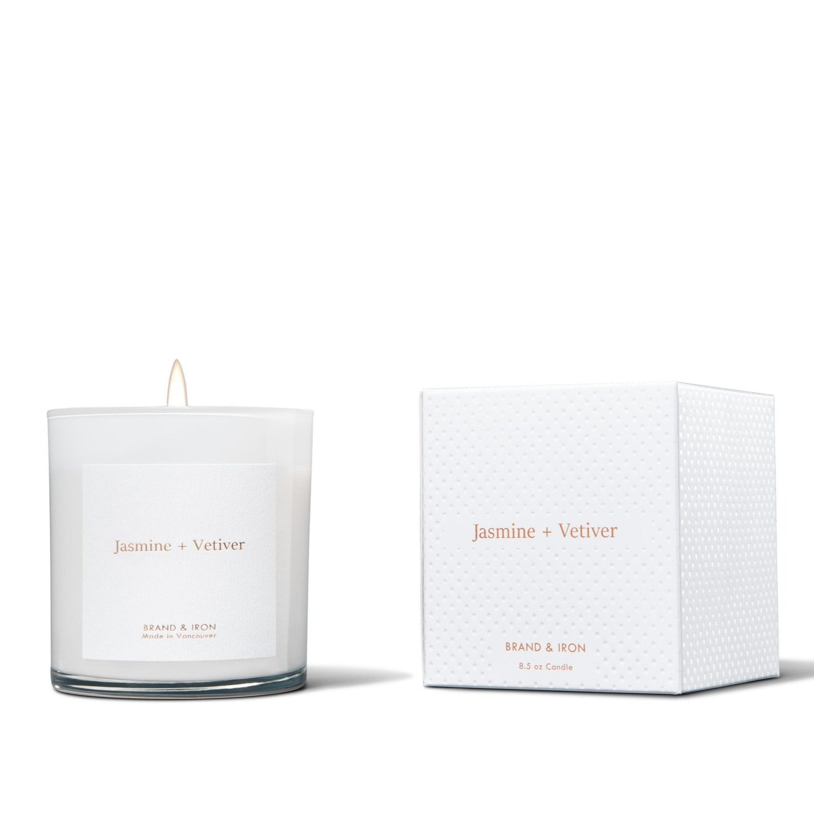 BRAND & IRON - HOME SERIES JASMINE & VETIVER CANDLE