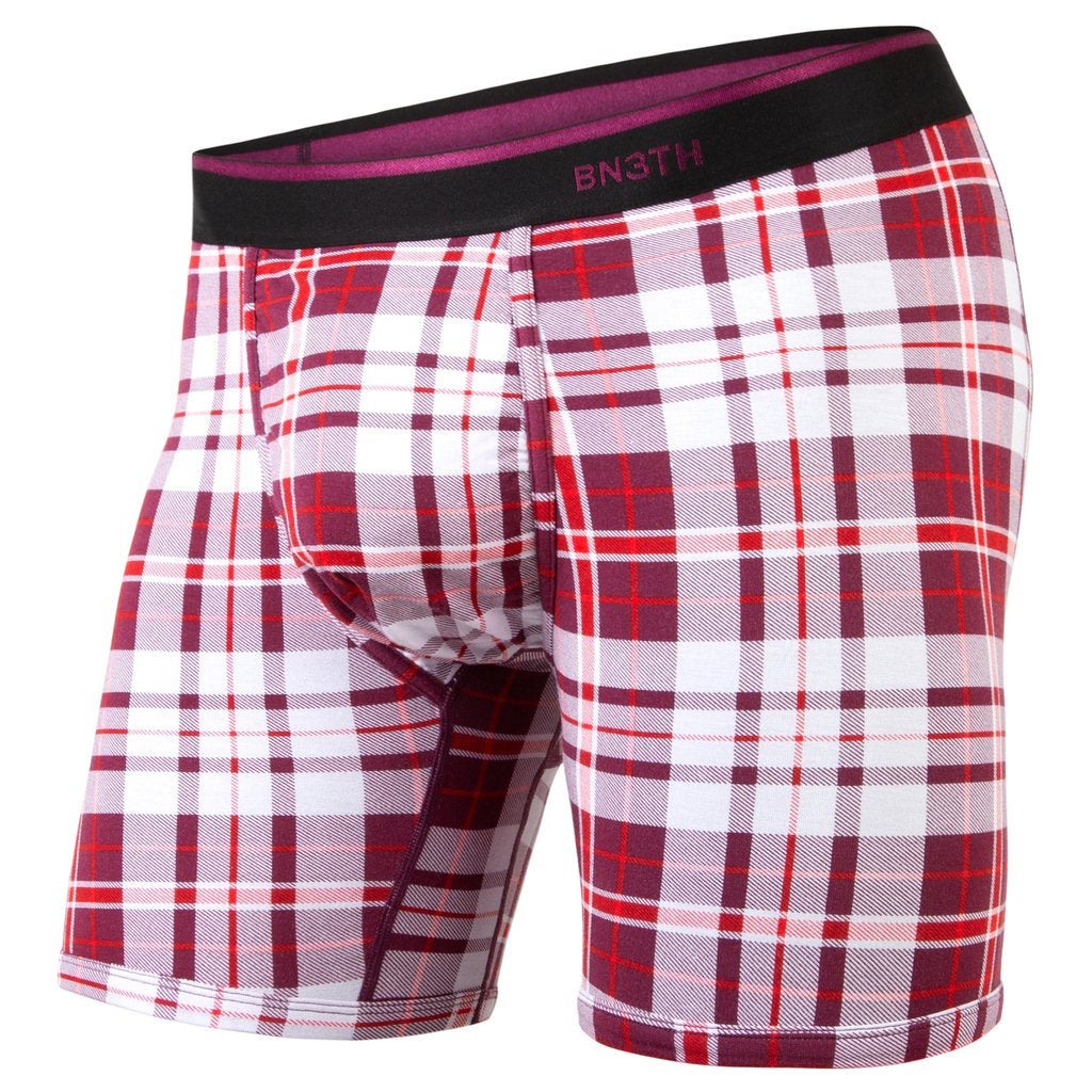 BN3TH - CLASSIC BOXER BRIEF PRINT NO PLAID DAYS WINE