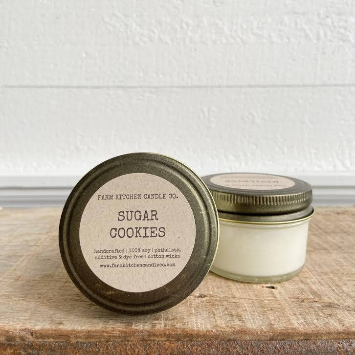 FARM KITCHEN CANDLE CO. - SUGAR COOKIES MINI SOY CANDLE