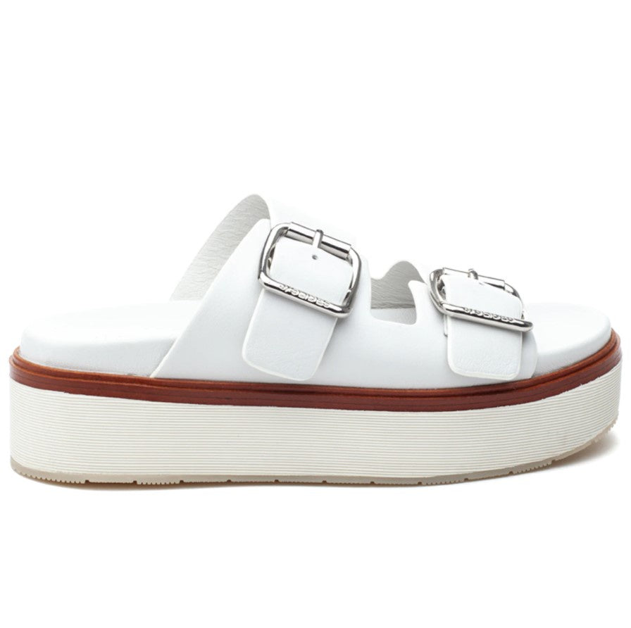 J SLIDES - BOWIE IN WHITE LEATHER