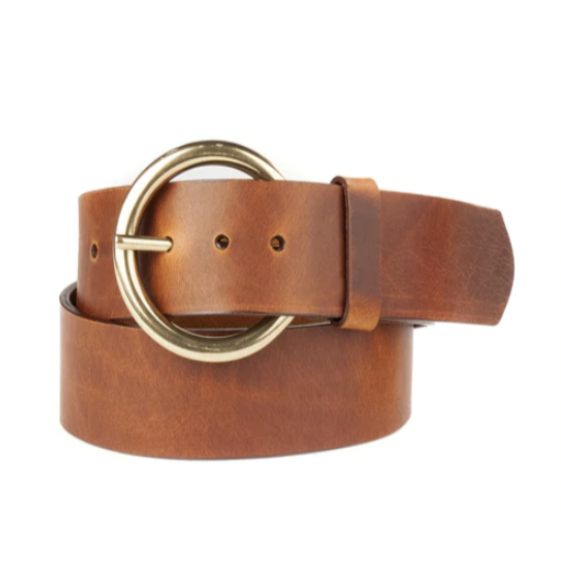 BRAVE LEATHER - VIKA LEATHER BELT IN BRANDY