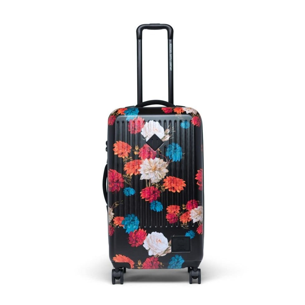 HERSCHEL - TRADE LUGGAGE MEDIUM IN VINTAGE FLORAL BLACK