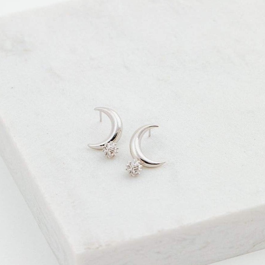 LOVER'S TEMPO - LUNAR POST EARRING IN SILVER
