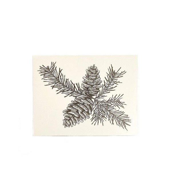 SVC STUDIOS  - PINE CONE GREETING CARD