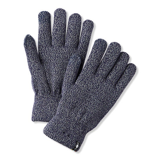 SMARTWOOL - COZY GLOVE IN DEEP NAVY/LIGHT GRAY MARL