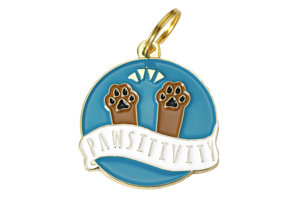 TWO TAILS PET COMPANY - PAWSITIVITY COLLAR CHARM