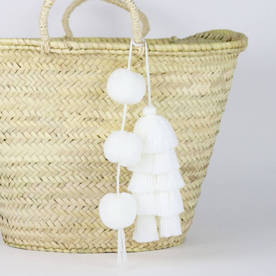 SOCCO DESIGNS - POM-TASSEL IN WHITE